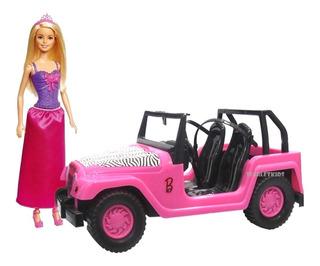Barbie Mattel + Barbie Jeep Safari Original Scarlet Kids