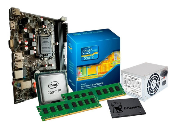 Kit I5 650 - 3.2 Ghz + Placa H55 + 8gb + Ssd 240gb King + Nf