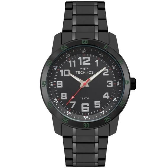 Relógio Masculino Technos 2035mnz/4p 46mm Aço Preto