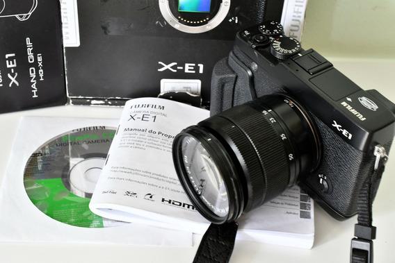 Câmera Fujifilm Xe-1 Seminova - Com Hand Grip - Na Caixa