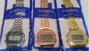 Relógio Vintage Pulso Retro Barato Preto Prata Rose Dourado