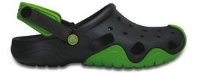 Zapato Crocs Caballero Swiftwater Clog Gris/verde