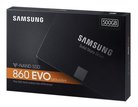Ssd 500gb Samsung 860 Evo Sata3 V-nand 2.5 Pol. 550mb/s