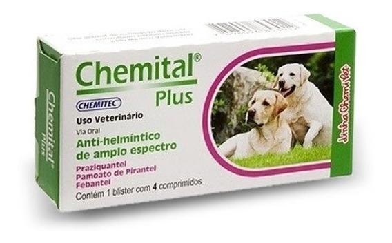 Chemital Plus 4 Comprimidos | Vermífugo Para Cães