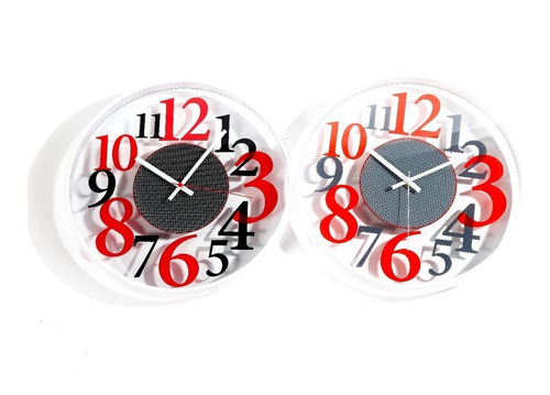Reloj De Pared En Acrilico Tamaño:30cmve4-28-04 -hay De Todo