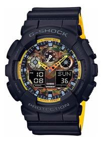 Relógio Casio G-shock Masculino Anadigi Ga-100by-1adr - Nfe