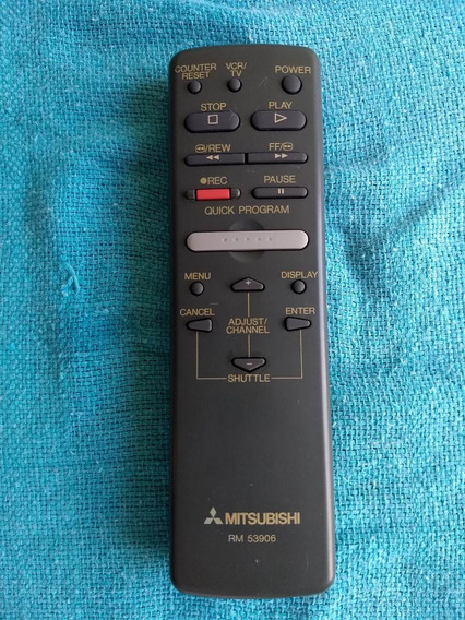 Controle Remoto Vcr Vídeocassete Mitsubishi Rm 53906