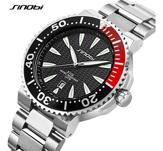 Relógio Masculino Sibobi Importado Original Aço Inoxidável Na Caixa A Prova D