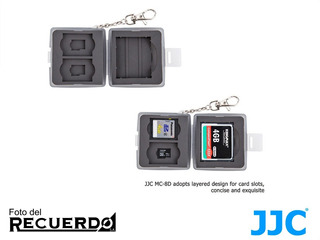 Estuche Para Tarjetas De Memoria Jcc1 Cf, 2 Sd Y 2 Msd