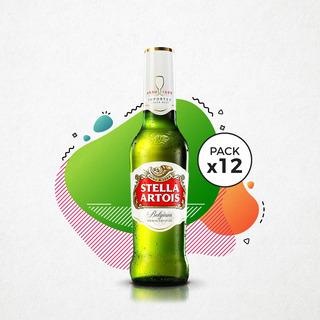 Cerveza Stella Artois 330 Ml Pack 12 Botellas San Nicolas