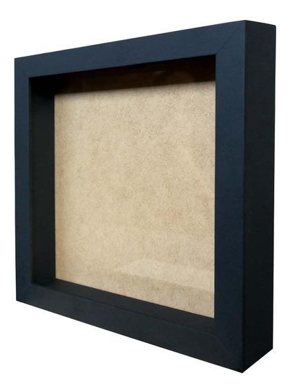 Moldura Caixa Alta 22x22cm Com Vidro