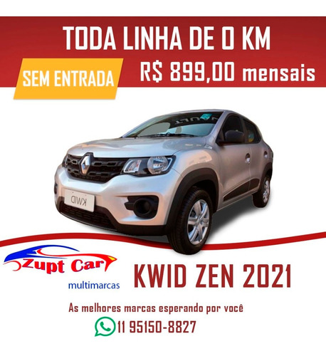 Renault Kwid Zen 2021 0km Carro Pronto Para Trabalho