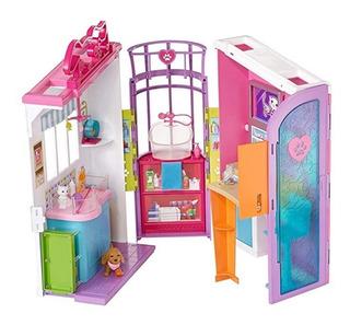 Casa Barbie Veterinaria Cuidado Mascota Original Portatil