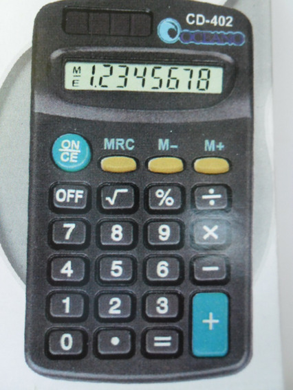 Calculadora De Mão Kenko Kk-402 Mesa Bolso 8 Digitos Escolar