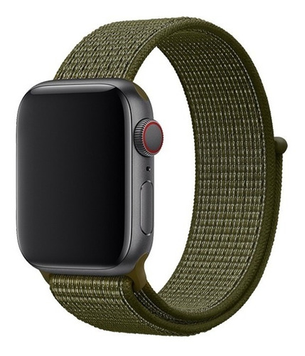 Pulseira Nylon Para Apple Watch Iwo 42mm 44mm 38mm 40mm 5 4