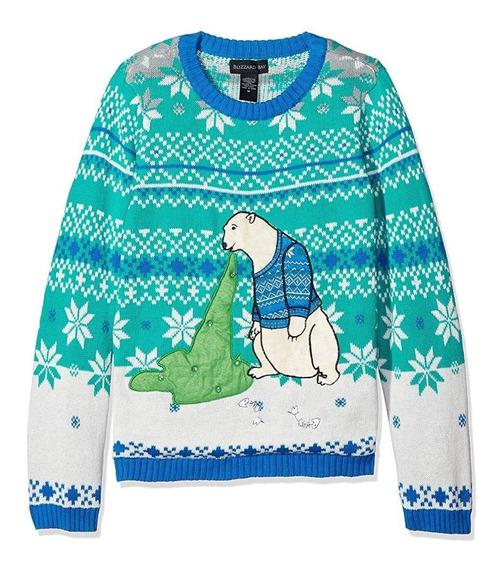 Ugly Christmas Sweater Sueter Navidad Oso Con Luz Talla S