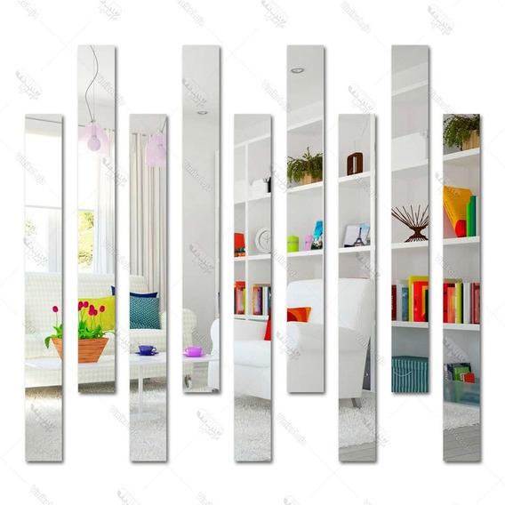 Espelho Decorativo Em Acrílico Listras Retangular