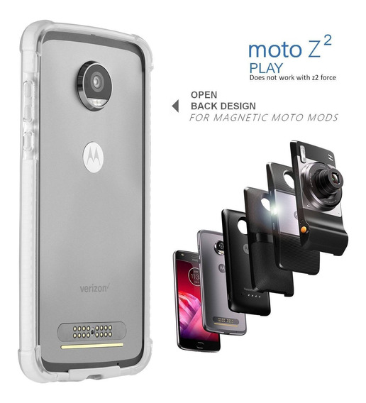 Moto Z2 Play Funda Bumper - Mod Compatible (does Not Work Wi