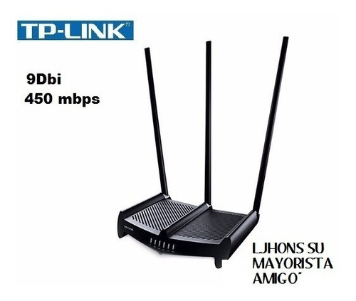 Router Wifi Tp-link Rompe Muros 450mbps Tl-wr941hp +9dbi