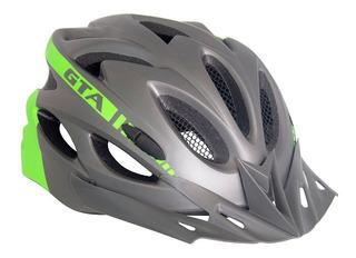 Capacete Ciclismo Bike Mtb Speed Gta Sinalizador Led Verde