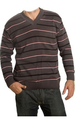 Sweater Canetti - Escote En V Rayado - Art. 1418