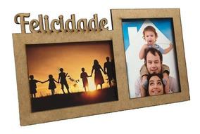 Porta Retrato Felicidade Lembrancinhas Mdf Kit 10 Peças