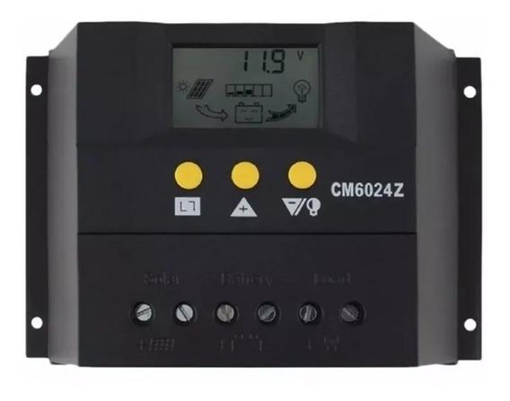 Controlador De Carga Solar Pwm 60a 12v 24v Com Lcd