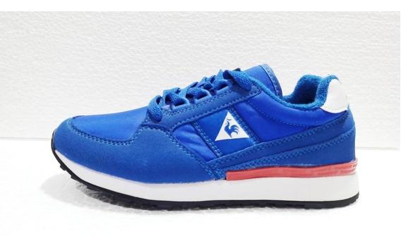 Zapatillas Lecoq Eclat 90 Jr Blue France Niño Azul