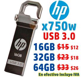 Hp Metálico X750w 16gb Usb 3.0 Flash Memory Usb Pendrive