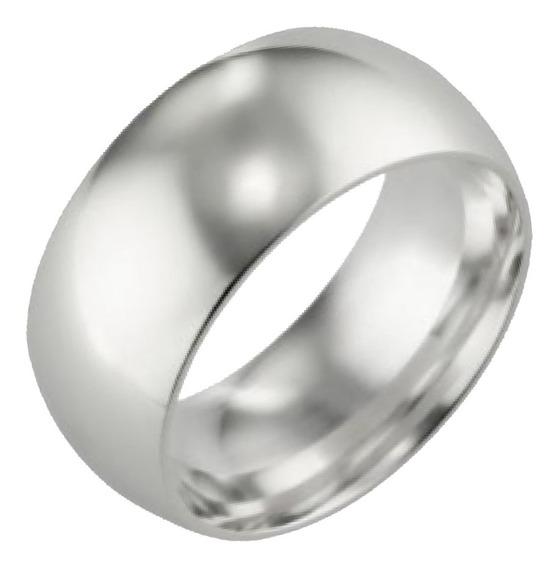 Aliança Prata Lisa Anatômica 10mm