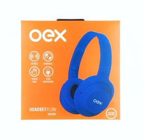 Headset Fone De Ouvido Hs207 Roxo Microfone Flow Dobrável