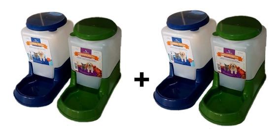 Bebedouro + Comedouro Automático Alvorada Prático Kit Com 4