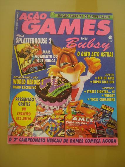 Revista Ação Games 35 World Heroes Bubsy Street Fighter F807