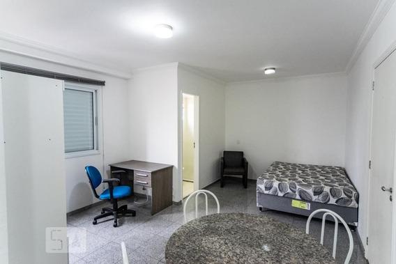 Studio No 10º Andar Mobiliado Com 1 Dormitório E 1 Garagem - Id: 892987955 - 287955