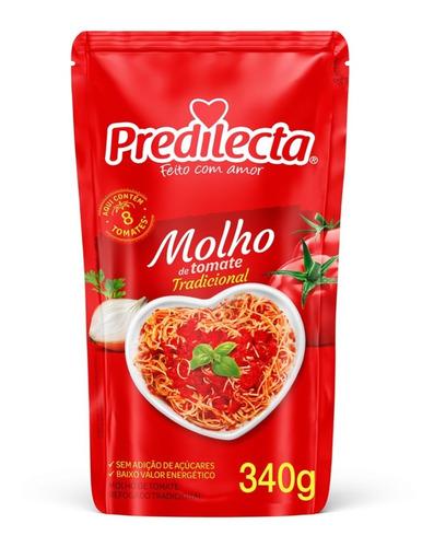 Imagem 1 de 2 de Molho De Tomate Tradicional 340g Predilecta
