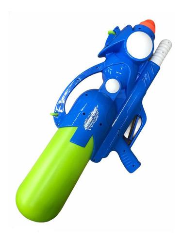 Super Pistola Lanza Agua Grande Con 2 Bocas Lanzadoras