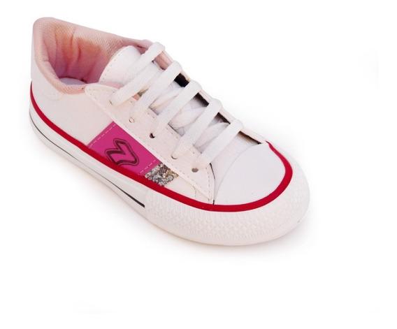 Zapatillas Niñas Colegial Sofia Blancas Urbanas