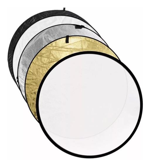 Rebatedor Difusor 110cm Circular 5 Em 1 Fotográfico + Bolsa