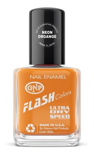 Esmalte Neon Flash Colors De Gnp 15ml Naranja