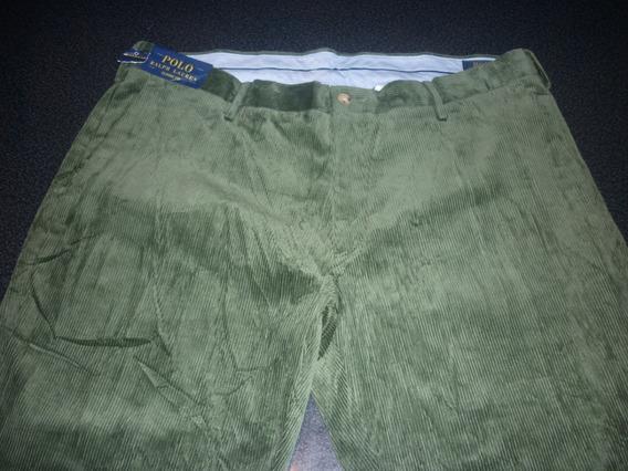 Espectacular!! Pantalon Corderoy Orig. Polo Green Xxl