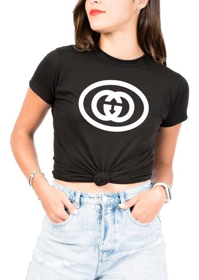 Playera Tipo Gucci Circulo Mujer -marca M&o Calidad Premium