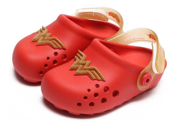 Crocs Infantil Liga Da Justiça Force Baby Vermelho 21678