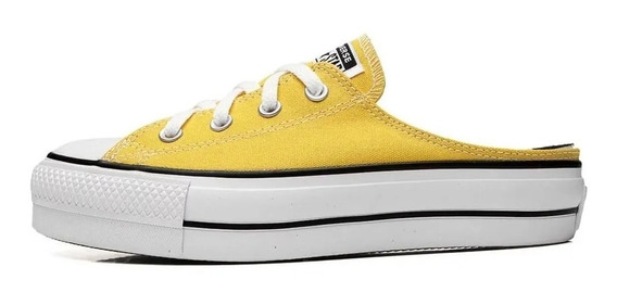 Tênis Converse All Star Mule Plataform Amarelo Original