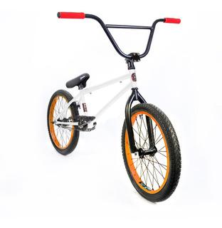 Bicicleta Bmx Fad ¡liviana Y Resistente! Blanca Y Naranja