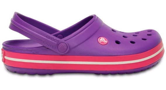 Crocs Crocband Mujer Neon Purple / Candy Pink