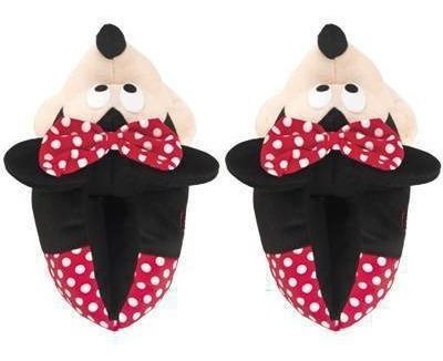 Pantufa Minnie Mouse 3d Lacinho Disney Solado Emborrachado