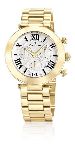 Relógio Pulso Jean Vernier Aço Casual Feminino Jv06852