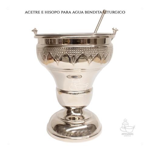 Acetre E Hisopo Para Agua Bendita Religioso A805 Grande