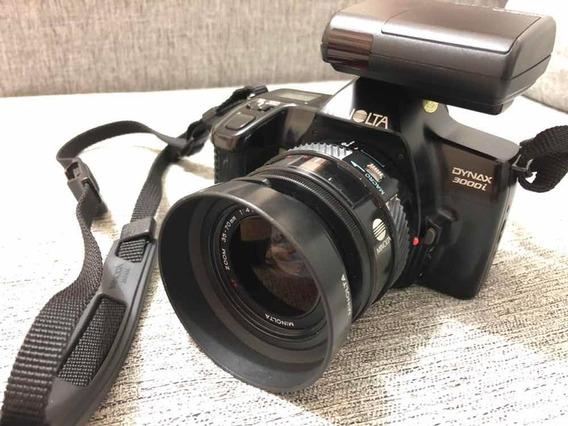 Câmera Minolta Dynax 3000i Com Lentes 35-70mm