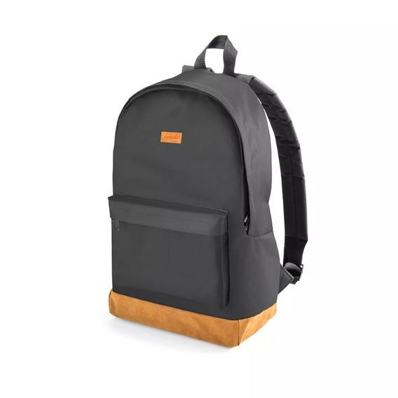 Mochila Backpack Preta E Marrom Até 15.6 Multilaser - Bo407